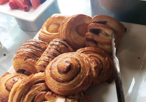 breakfast pastries at Embassy Suites La Jolla