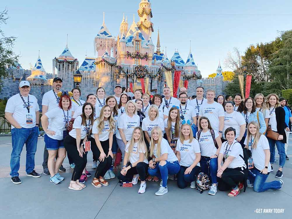 FAM group photo in front of Disneyland Castle