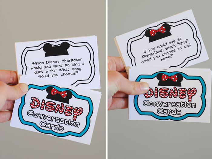 Favorite Road Trip Games Disney Conversation Cards
