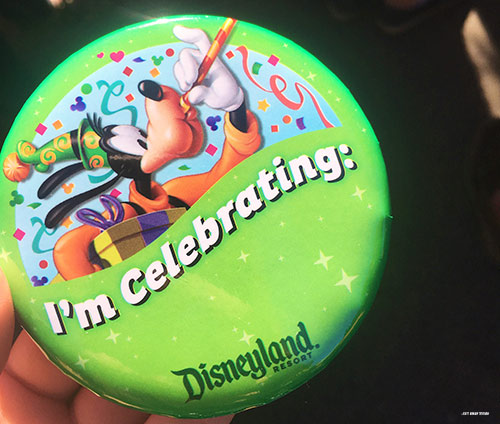 Free Things at Disneyland Celebration Buttons