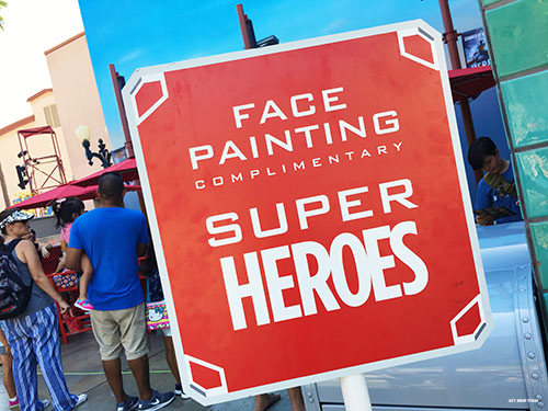 Free Things at Disneyland Face Painting Summer of Heroes