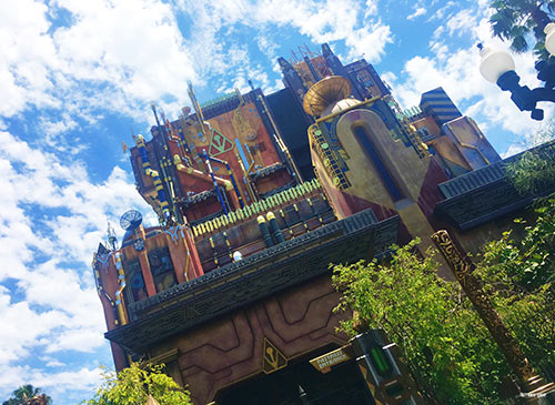 Guardians of the Galaxy Mission Breakout Disneyland Building