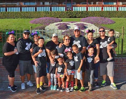 Extended family at Disneyland Park