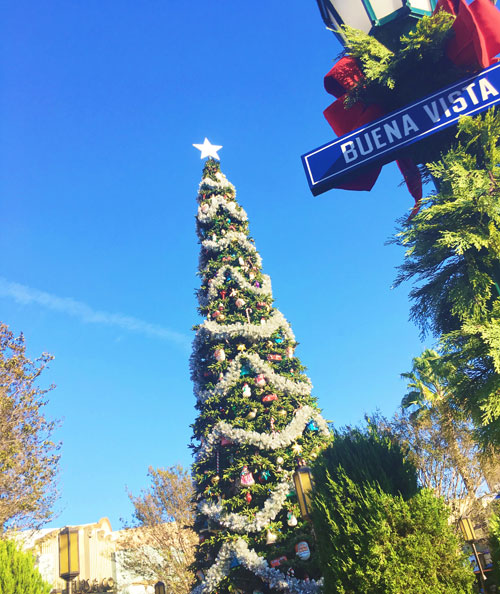 Christmas Tree on Buena Vista Street