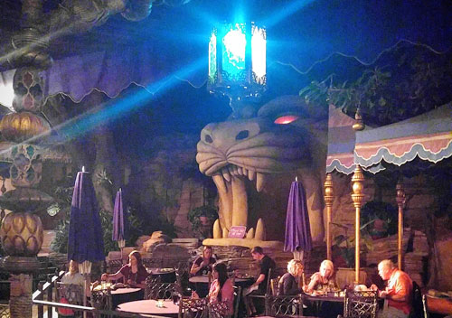 Dinne at Aladdin's Oasis in Disneyland
