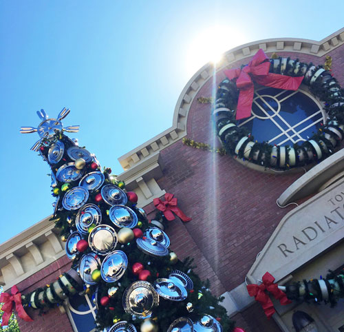 Christmas at Disneyland Cars Land