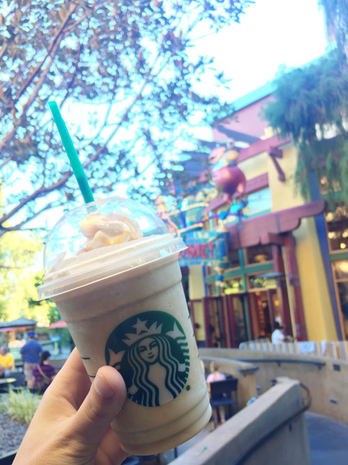 Starbucks drink in Downtown Disney