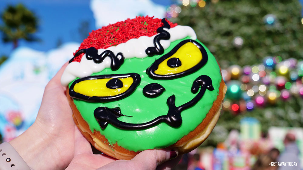 Holidays at Universal Studios Hollywood Grinch Donut