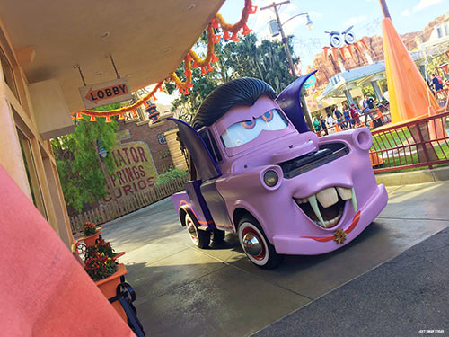 If you don't have Mickey's Halloween Party tickets, meet Mater as a vampire!