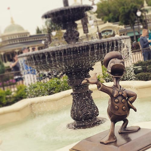 Disney World Donald Duck Fountain