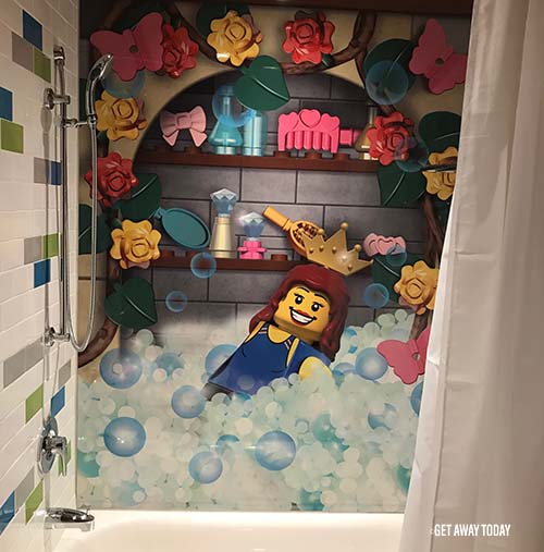 Legoland Castle Hotel Princess Room Tour Shower
