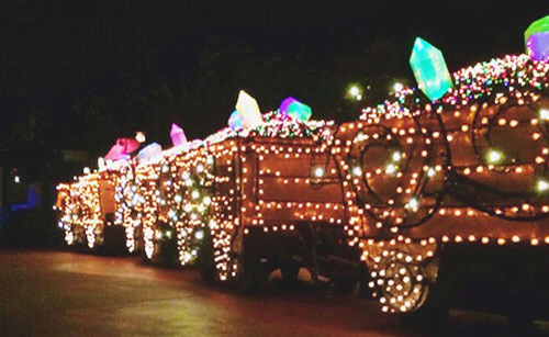 Main Street Electrical Parade Seven Dwarfs Mine Cars
