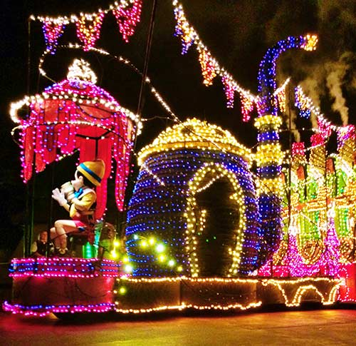 Main Street Electrical Parade Pinnochio Float