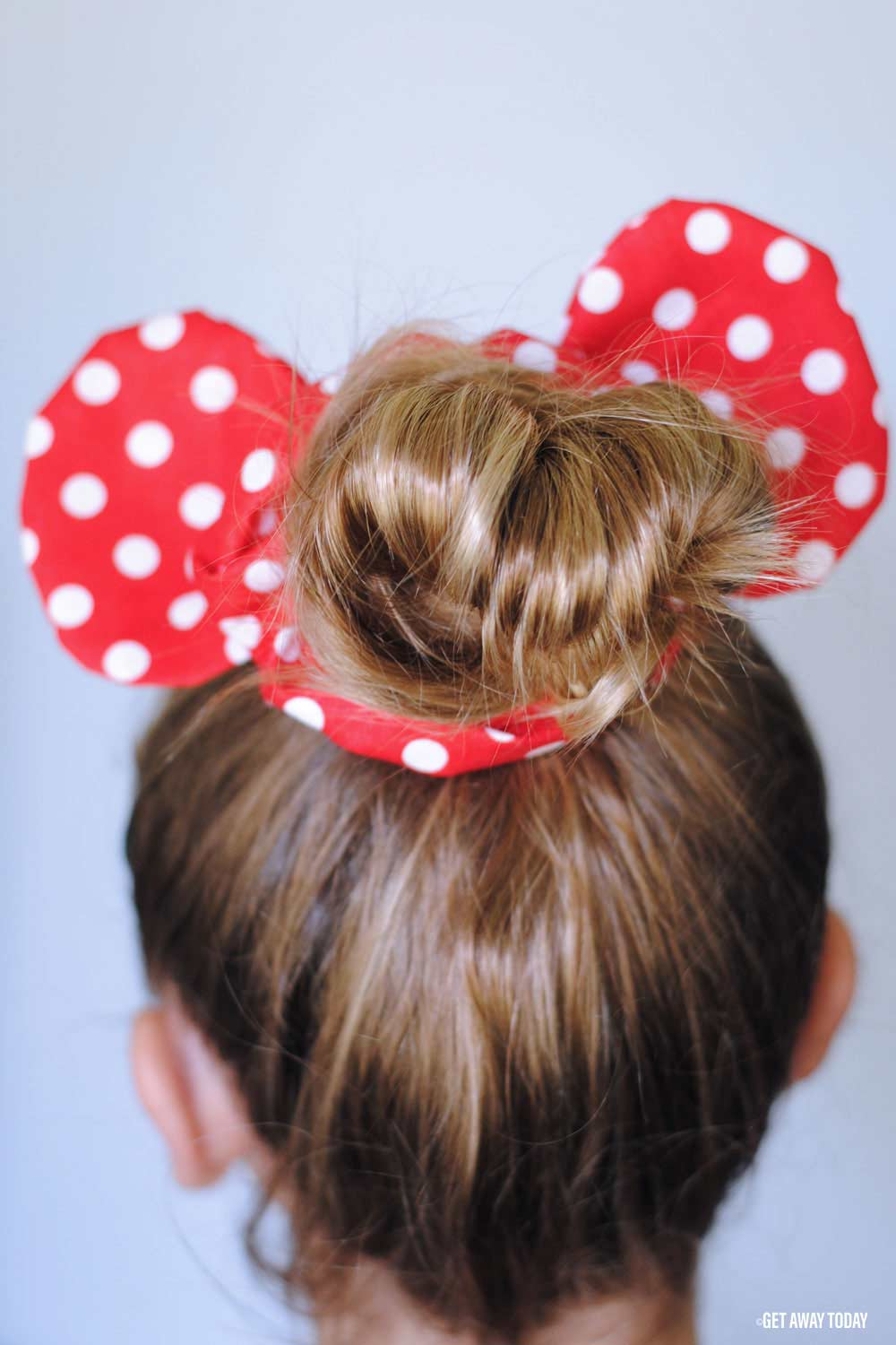 Minnie Mouse Scrunchie Back