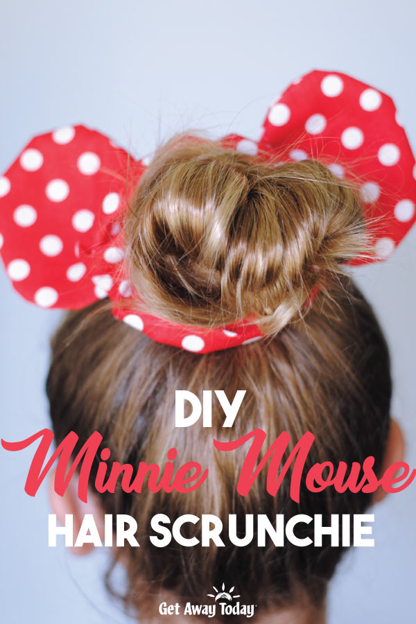 DIY Minnie Mouse Hair Scrunchie || Get Away Today