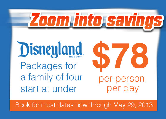 Disneyland Vacations From Per Person Per Day - Disney family packages