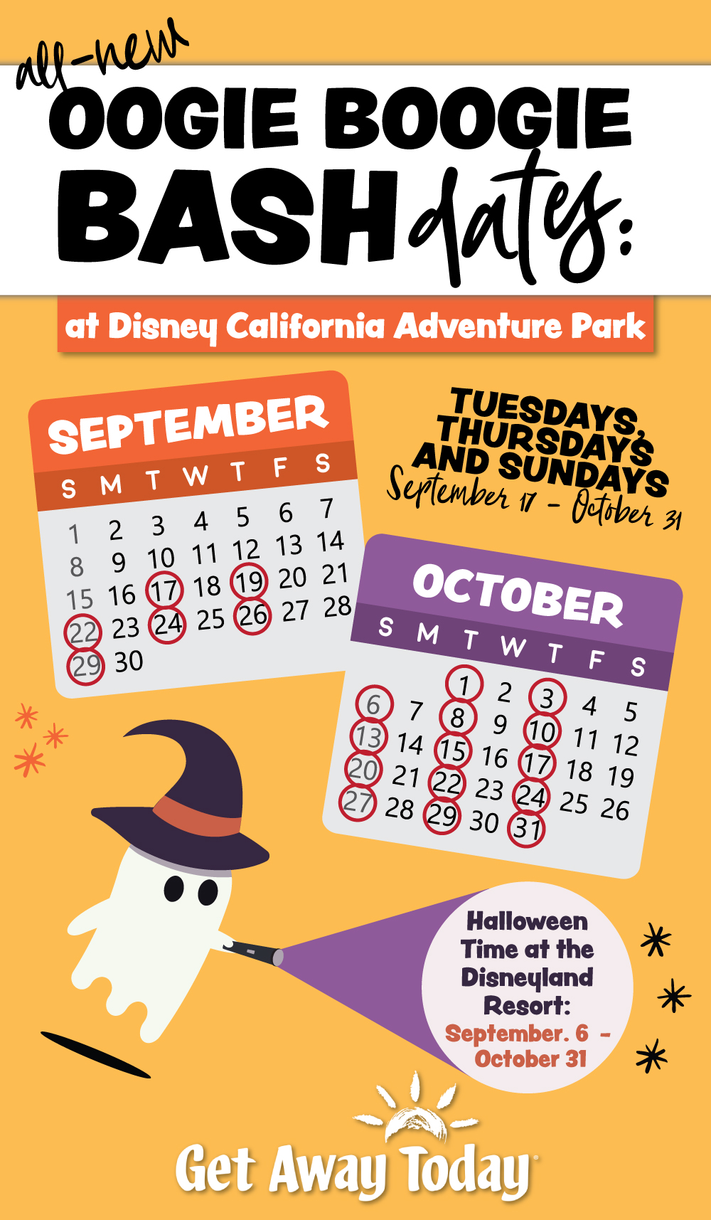 Oogie Boogie Bash Dates- Disneyland Halloween Party || Get Away Today