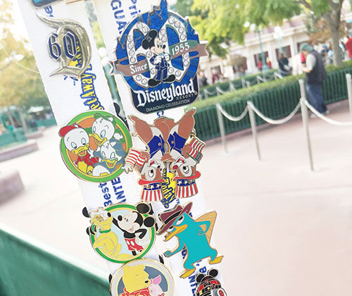 Pin Trading at Disney Resorts Lanyard