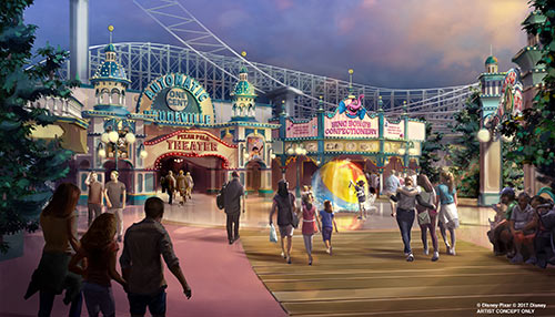Pixar Pier at Disneyland Theming Rendering