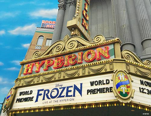 Relax in Disneyland Frozen Live at the Hyperion