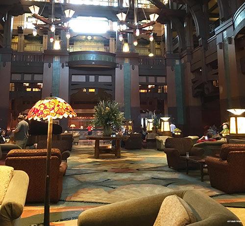 Relax in Disneyland Grand Californian Hotel Lobby