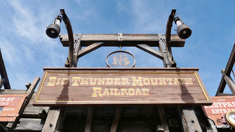 Surviving Disney World with Babies Big Thunder Mountain sign