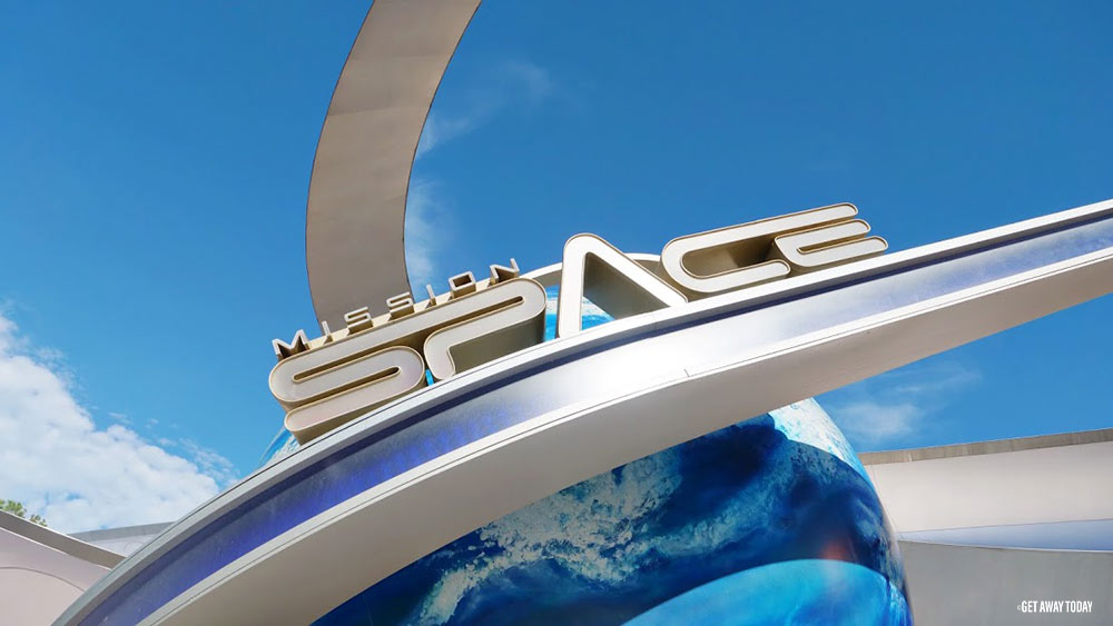 Surviving Disney World with Babies Mission Space sign