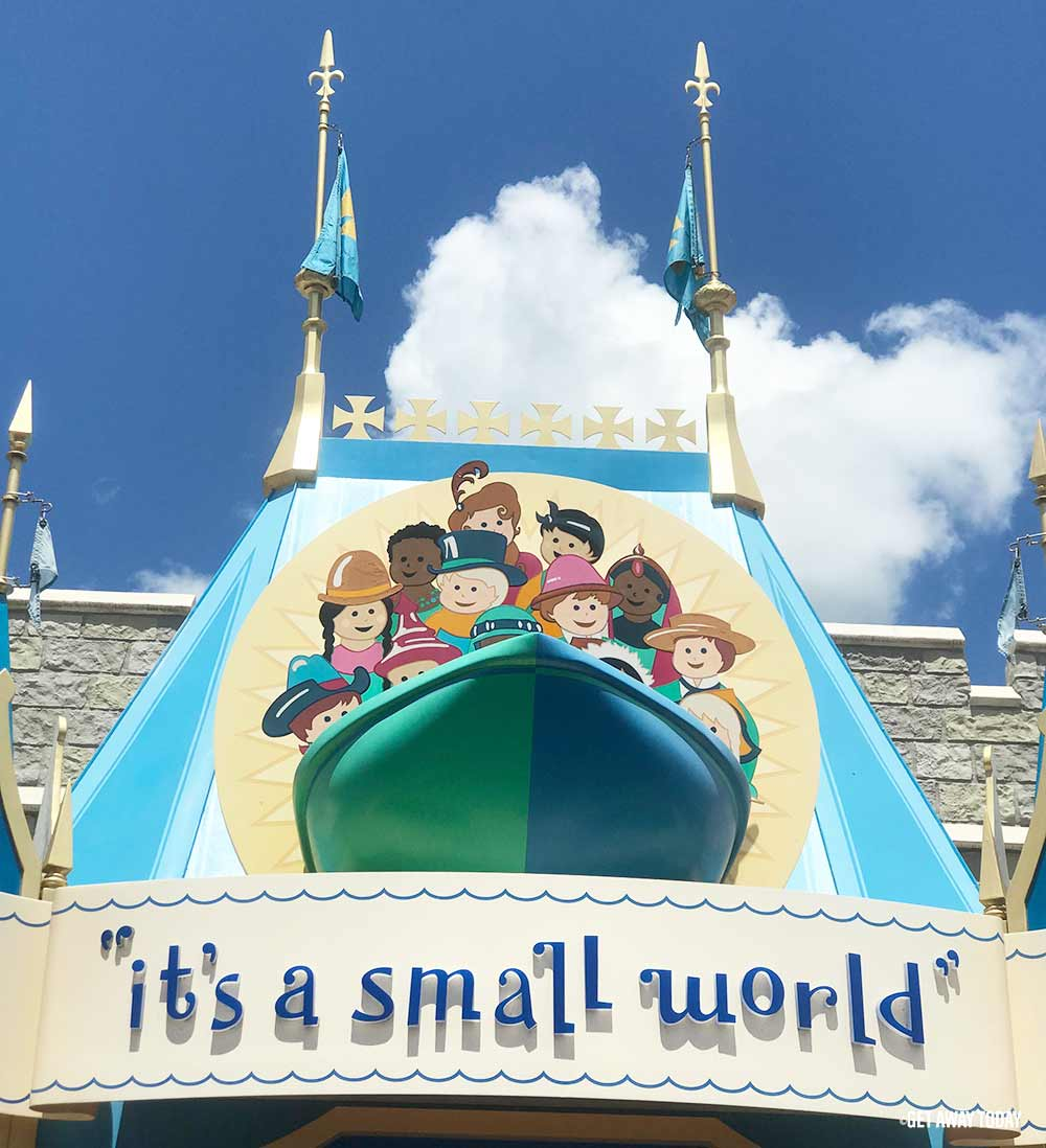 Surviving Disney World with Babies it's a small world sign