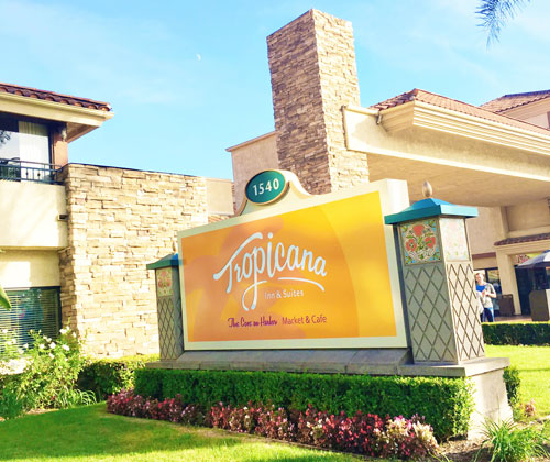 Tropicana Inn and Suites sign