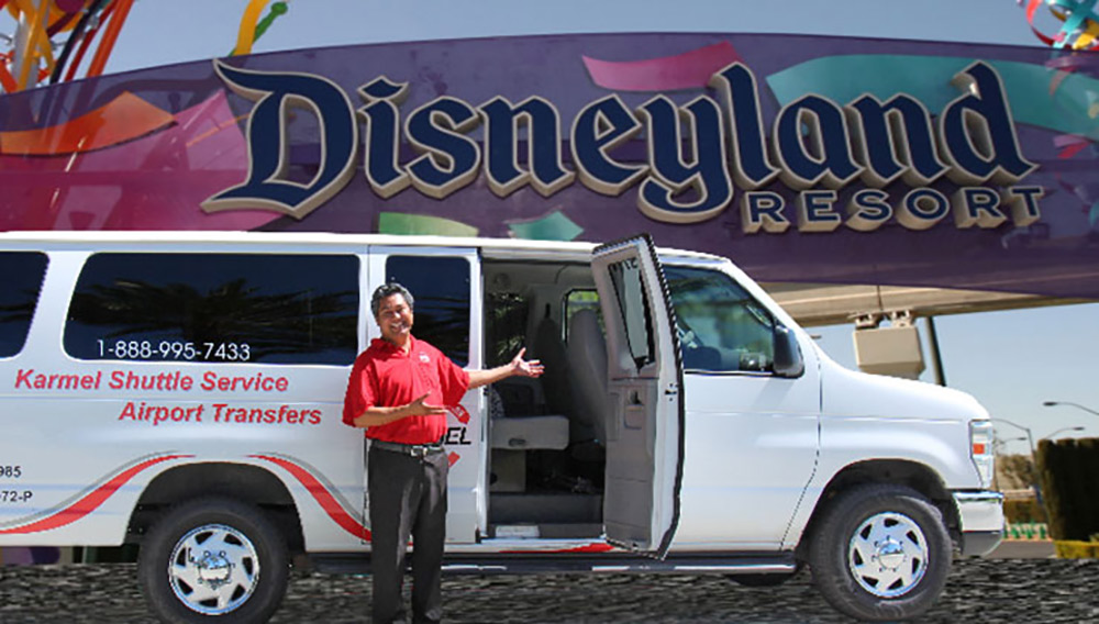 What are the Disneyland shuttle options Karmel