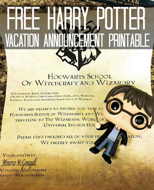 Wizarding World of Harry Potter Tips Vacation Announcement