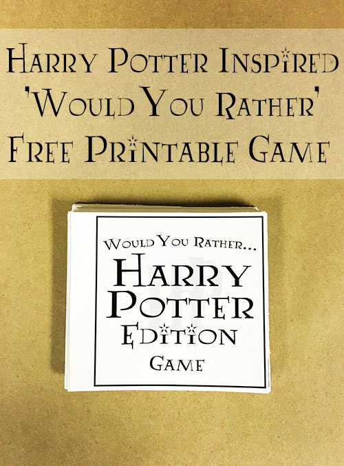Wizarding World of Harry Potter Tips Would You Rather Game