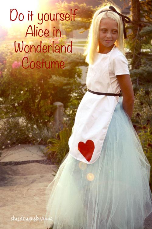 Diy halloween costume alice in wonderland solutioingenieria Image collections