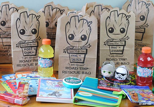 Baby Groot Bags Finished with Gear