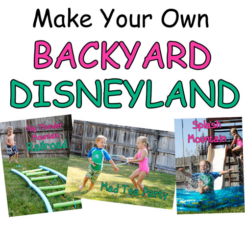 Create your own backyard disneyland for Design your own garden