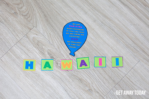 Surprise Hawaii Vacation Instructions and Letters