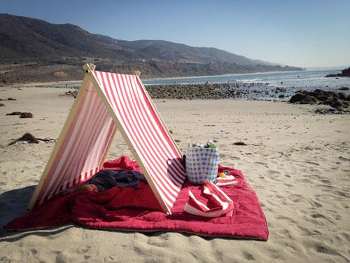 Beach Tent Tutorial-Tenton Beach