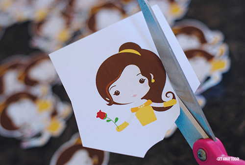 Belle Cupcakes Cut Toppers