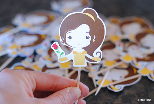 Belle Cupcakes Printable Topper