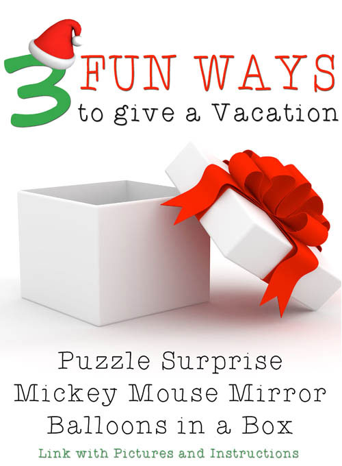 3 Ways To Give A Vacation Surprise