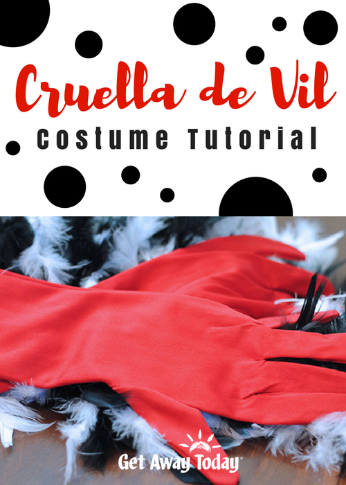 Cruella de Vil Costume Tutorial Pin | Get Away Today