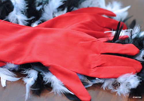 Cruella de Vil Costume Tutorial Gloves