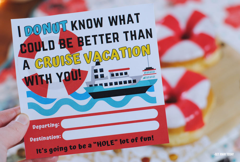Cruise Vacation Surprise Printable