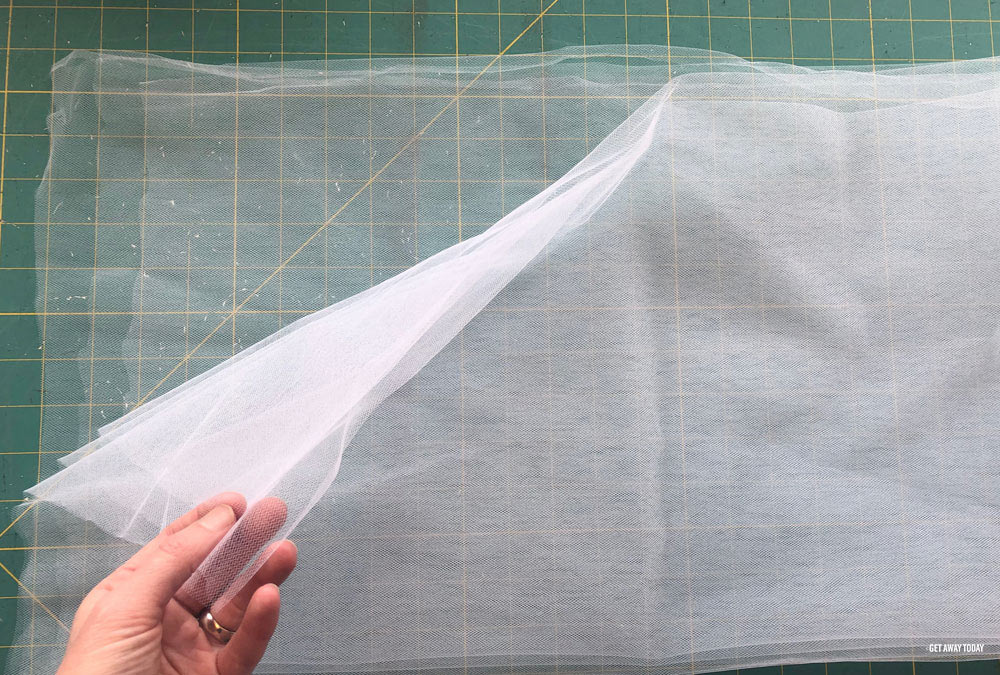 DIY tulle skirt layers