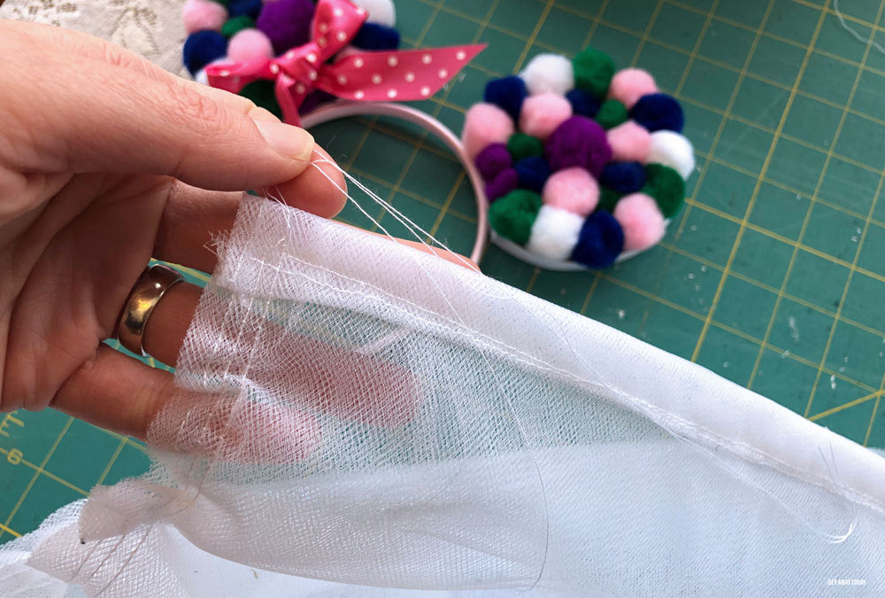 DIY tulle skirt ruffle