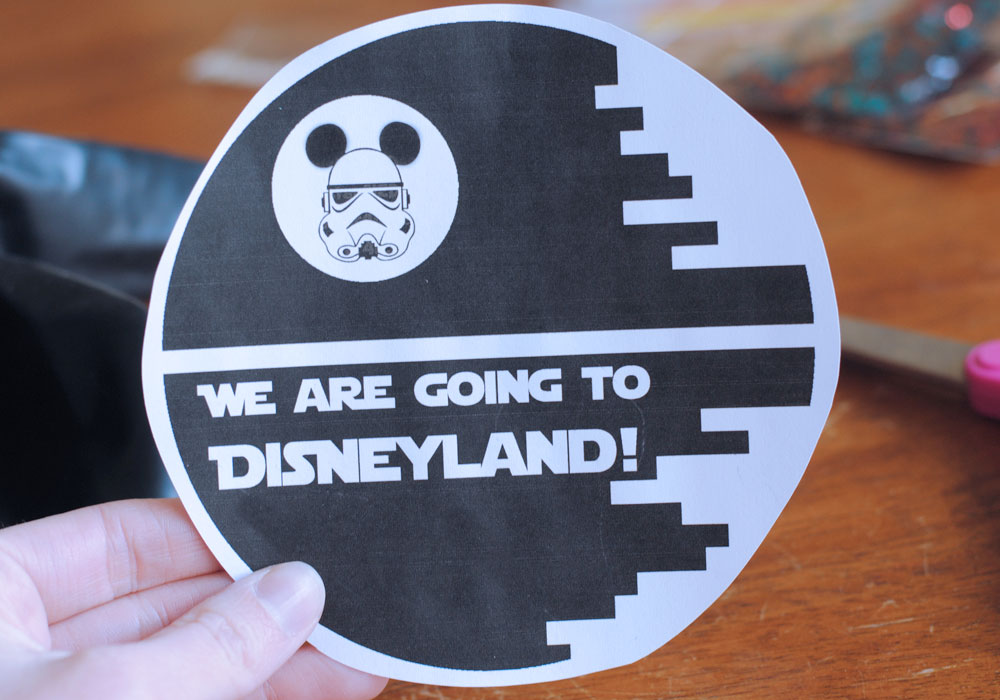 Star Wars Death Star Vacation Surprise Note