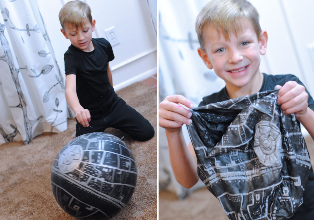 Star Wars Death Star Vacation Surprise Popped Balloon
