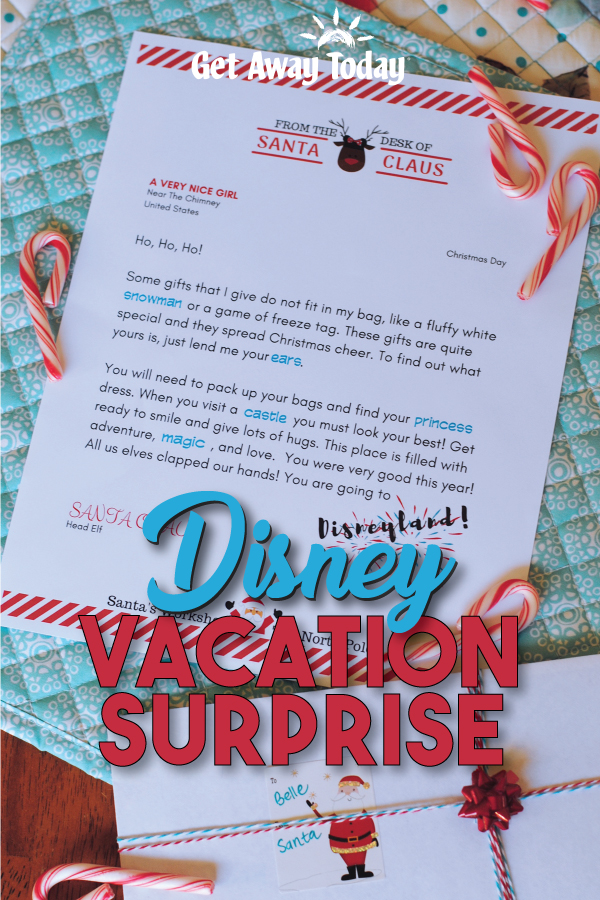 Disney Christmas Surprise Letter || Get Away Today