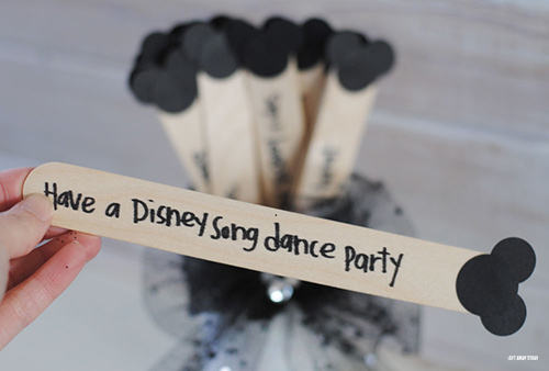 Disney Vacation Countdown Craft Sticks Party