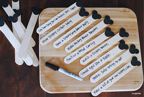 Disney Vacation Countdown Craft Sticks Vacation